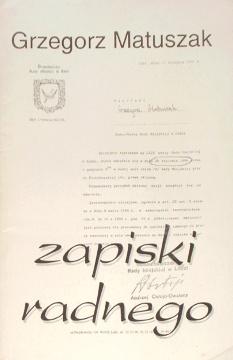 Matuszak Zapiski radnego Łodziana Lodziana Lodz Łódź Głos Poranny felieton wab0020