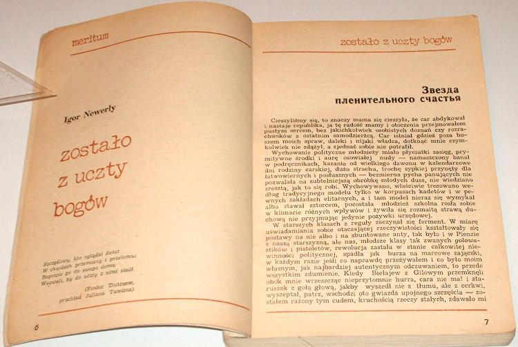 Meritum-Miesiecznik-krytyczny-2-pazdziernik-1981-Newerly-Zostalo-z-uczty-bogow-Literary-Fiction