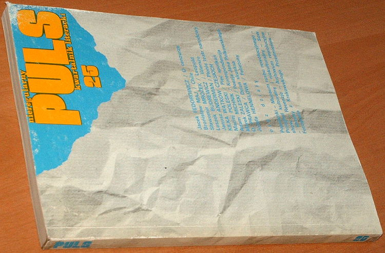 Puls-Nieregularny-kwartalnik-literacki-Nr-25-Londyn-maj-1985-Fedorowicz-cenzura-Bielecki-Michnik-Hennelowa-Surdykowski