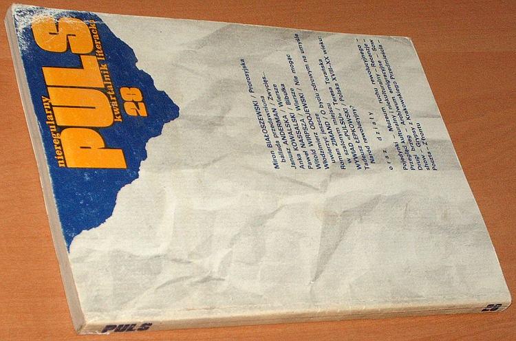 Puls-Nieregularny-kwartalnik-literacki-Nr-28-Londyn-luty-1986-Anderman-Kowalska-Odojewski-Kisielewski-Toranska-Zondek
