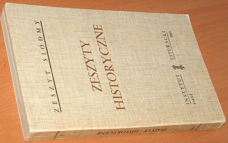 Zeszyty-historyczne-7-Instytut-Literacki-1965-Okulicz-Katelbach-Wandycz-Kukiel-Czapski-Haller-Siemaszko-Tarwid-Roland