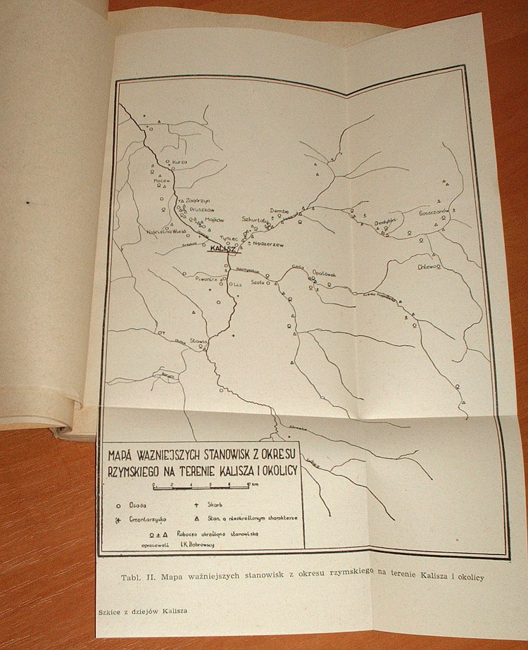 Szkice-z-dziejow-Kalisza-Ossolineum-1960-Dabrowski-Kalisz-starozytny-Wasowiczowna-Topografia-Dabrowska-Grodzisko