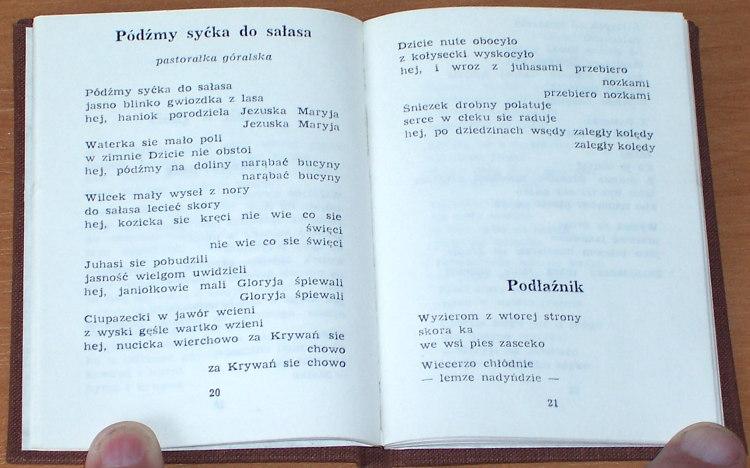 Lojas-Kosla-Franciszek-Spiewke-osotac-Nowy-Sacz-Sadecka-Oficyna-Wydawnicza-1987-Poronin-Tatry-Podhale-poezja-autograf