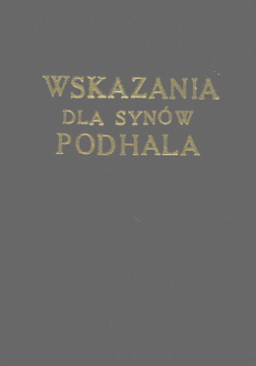 Orkan Wskazania dla synów Podhala Podhale górale miniatura wab0212
