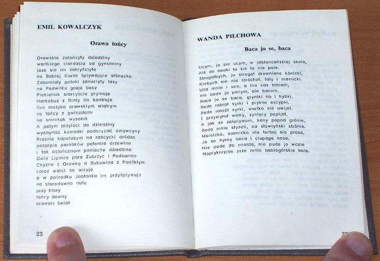Poklon-Orawie-Wiersze-poetow-orawskich-w-wyborze-i-oprac-Emila-Kowalczyka-Zakopane-Ofic-Wydawn-Zwiazku-Podhalan-1987