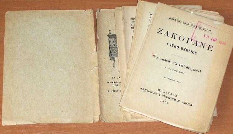 Zakopane-i-jego-okolice-Przewodnik-dla-zwiedzajacych-Warszawa-Wydawnictwo-M-Arcta-1905