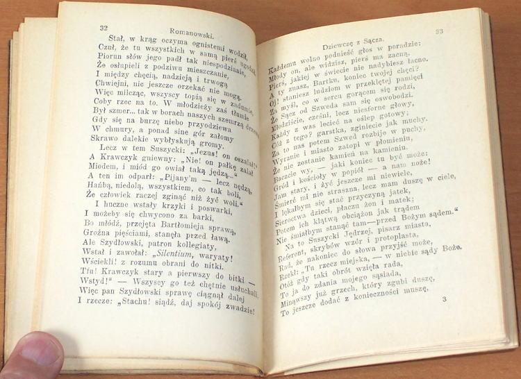 Romanowski-Dziewcze-z-Sacza-Rzecz-mieszczanska-z-czasow-wojny-szwedzkiej-roku-1655-Zloczow-Ksiegarnia-Zukerkandla-1924