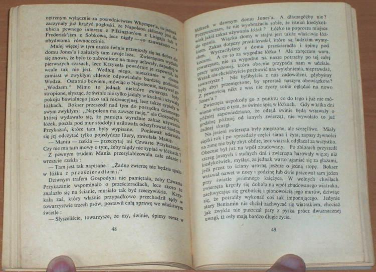 Orwell-George-Folwark-zwierzecy-Wyd-podziemne-drugoobiegowe-BLH-Biblioteka-Literacka-i-Historyczna-1981-bibula-Allways