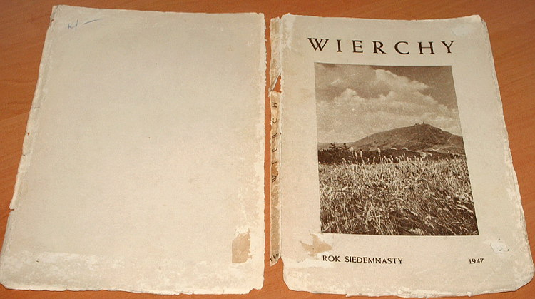 Wierchy-Rocznik-17-Polskie-Towarzystwo-Tatrzanskie-1947-Goetel-Szczepanski-Sudety-Beskidy-Ruwenzori-Tatry-Podhale
