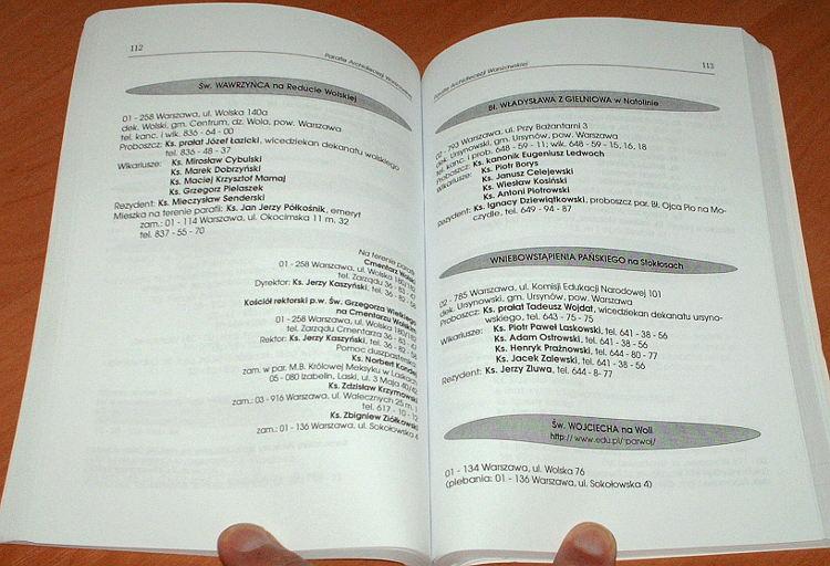 Informator-Archidiecezji-Warszawskiej-2001-Stan-w-dniu-20-sierpnia-2001-Wydawnictwo-Archidiecezji-Warszawskiej-WAW