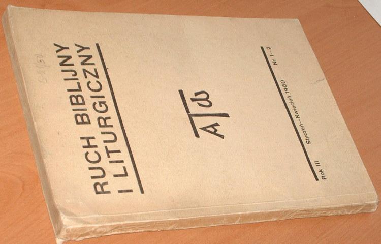 Ruch-Biblijny-i-Liturgiczny-Rok-III-styczen-kwiecien-1950-nr-1-2-Krakow-Jakub-Wujek-Biblia-Klawek-Smereka