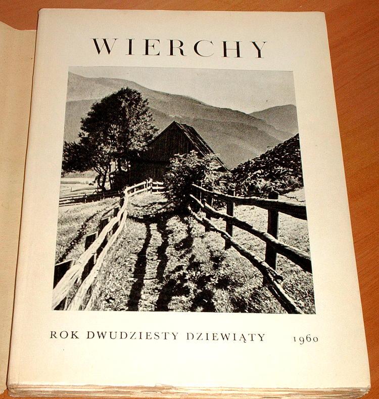 Wierchy-R-29-PTTK-PWN-1960-Tatry-gorale-Beskidy-Krygowski-Gory-Dobrowolski-pasterstwo-Karpaty-Nyka-Biel-Matterhorn