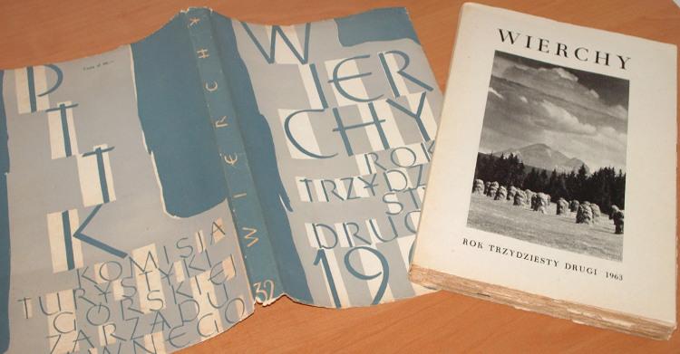 Wierchy-R-32-PTTK-PWN-1963-Tatry-gorale-Schramm-Hindukusz-Dolomity-Chwascinski-Reychman-Szczepanski-Stec-Sudety-Gory