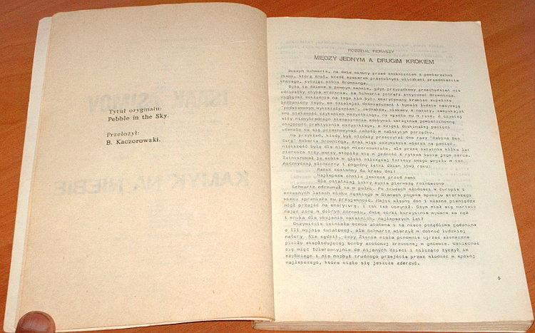 Asimov-Isaac-Kamyk-na-niebie-Wielkie-Serie-Science-Fiction-transl-Kaczorowski-Pebble-in-the-sky-wydanie-klubowe