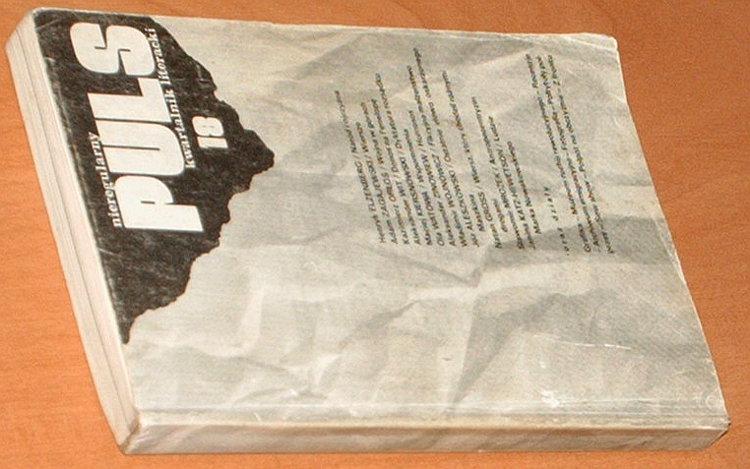 Puls-Nieregularny-kwartalnik-literacki-Nr-18-Londyn-wiosna-lato-1983-Zagajewski-Kiersnowski-Olbrychski-Wysocki-Gross