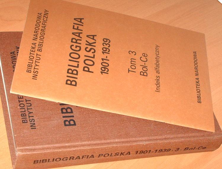 Biblioteka-Narodowa-Bibliografia-polska-1901-1939-Tom-3-Bol-Ce-Ossolineum-1993