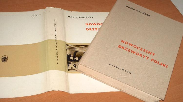 Gronska-Maria-Nowoczesny-drzeworyt-polski-do-1945-roku-Ossolieum-1971-Skoczylas-grafika-ilustracja-ksiazkowa