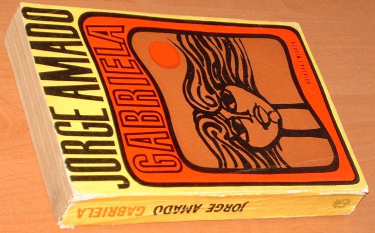 Amado-Jorge-Gabriela-Kronika-pewnego-miasta-interioru-Ksiazka-i-Wiedza-1968-Gabriela-cravo-e-canela