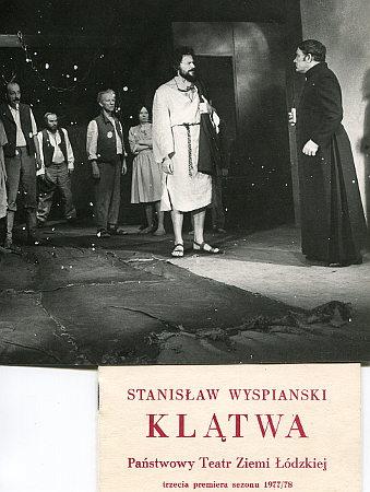 Szymanowska Klątwa Wyspiański Państwowy Teatr Ziemi Łódzkiej Gręboszów ksiądz romans premiera 1978 plakat Grzybowski Hoffman Renik wae0014