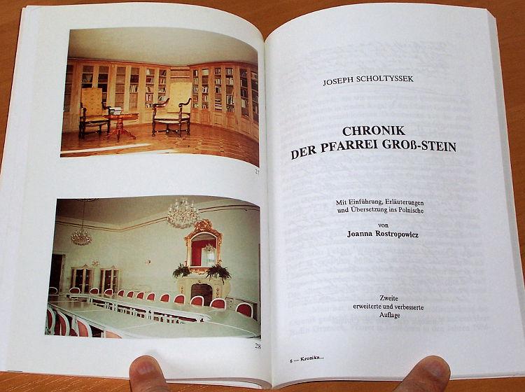 Scholtyssek-Joseph-Kronika-Kamienia-Slaskiego-Chronik-der-Pfarrei-Gross-Stein-Wyd-2-Opole-Wyd-Sw-Krzyza-1994