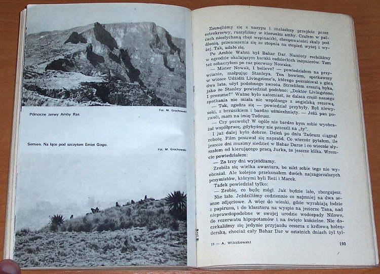 Wilczkowski-Kazdemu-wedlug-marzen-Lodz-Wydawnictwo-Lodzkie-1976-Polska-wyprawa-w-gory-Etiopii-1968-1969-autograf-autograph