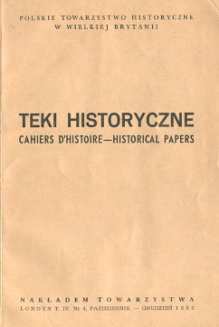 Teki Historyczne Cahiers d'Histoire Historical Papers historia emigracja Polish Historical Society of Great Britain Halecki Kongres Historyczny  Koczy Paszkiewicz Jagiełło Dygnas Zaremba Steneberg Polonica Borowy Danilewiczowa Oppman Laskowski wba0034