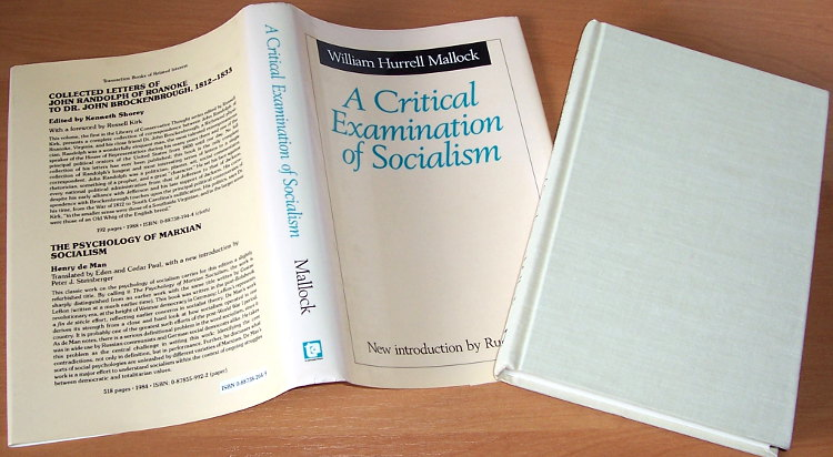 Mallock-William-Hurrell-A-Critical-Examination-of-Socialism-New-Brunswick-Transaction-Publishers-1989