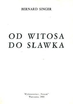 Singer Od Witosa do Sławka historia wba0061