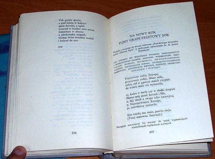 Galczynski-Konstanty-Ildefons-Wiersze-Warszawa-Czytelnik-1956