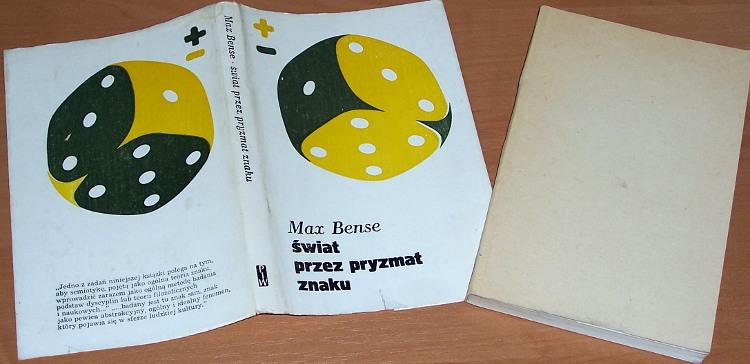 Bense-Max-Swiat-przez-pryzmat-znaku-Warszawa-PIW-1980-Vermittlung-der-Realitaten-Semiotische-Erkenntnistheorie-Garewicz