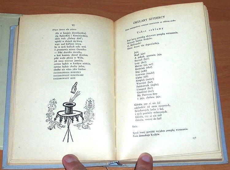 Galczynski-Konstanty-Ildefons-Satyra-groteska-zart-liryczny-Warszawa-Czytelnik-1955-poeta-poezja