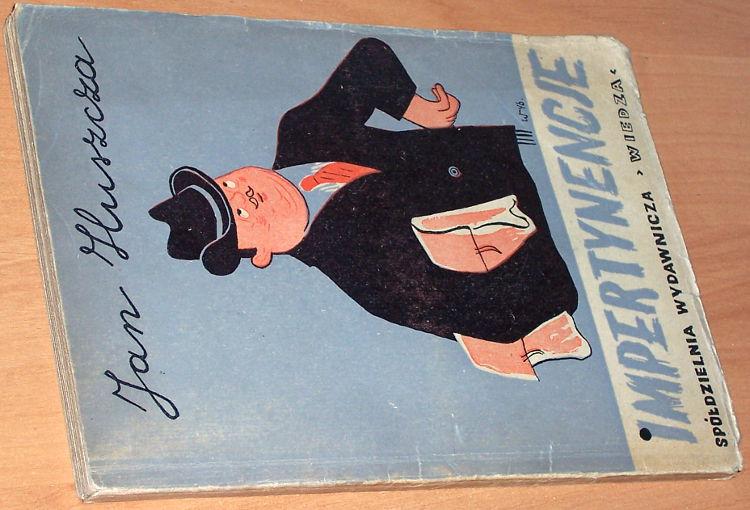 Huszcza-Jan-Impertynencje-Warszawa-Spoldzielnia-Wydawnicza-Wiedza-1947-ilustrowal-Ignacy-Witz