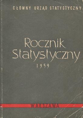 Główny Urząd Glowny Urzad Statystyczny GUS statystyka Rocznik statystyczny 1959 wba0140