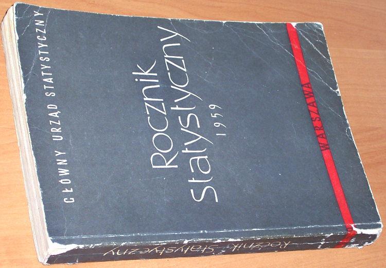 Glowny-Urzad-Statystyczny-Rocznik-statystyczny-1959-Warszawa-GUS-1959-statystyka