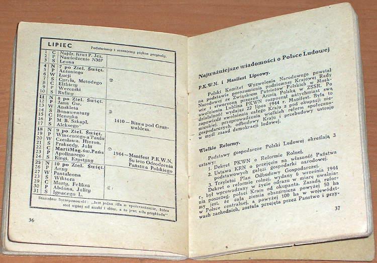 Czuwaj-Sluz-Kalendarzyk-harcerski-na-rok-1948-Krakow-Skladnica-Harcerska-1948-harcerstwo