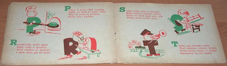 Raczynski-Stanislaw-Wesole-abecadlo-Krakow-Wydawnictwo-M-Kot-1948-ksiazeczka-dla-dzieci
