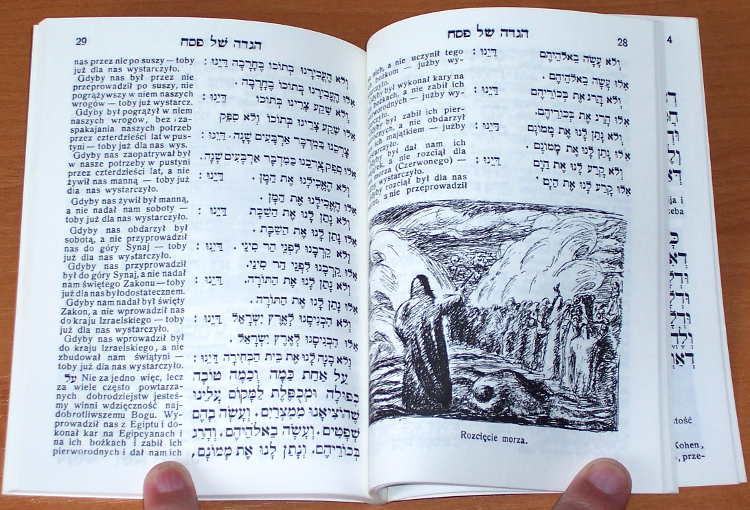 Hagada-Opowiadania-o-wyjsciu-Izraelitow-z-Egiptu-na-dwa-pierwsze-wieczory-swieta-Pesach-Reprint-Warszawa-BGW-1991