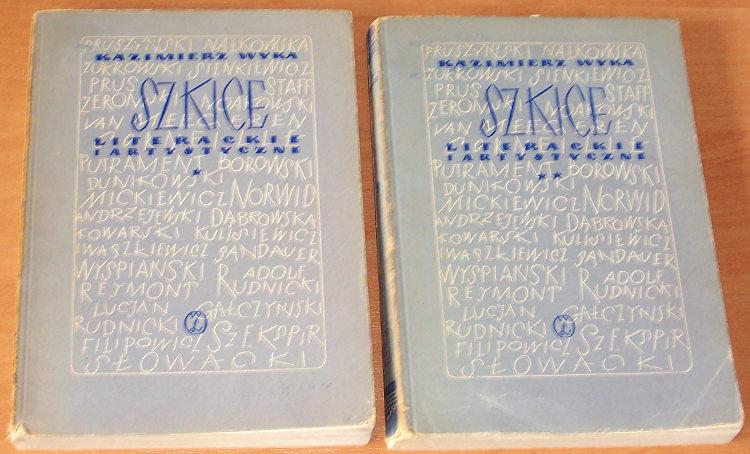 Wyka-Kazimierz-Szkice-literackie-i-artystyczne-T-1-2-Warszawa-Wydawn-Literackie-1956-Zeromski-Staff-Sienkiewicz-Slowacki