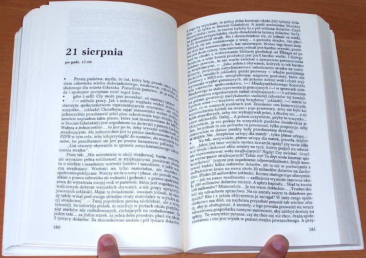 Zapis-rokowan-gdanskich-Sierpien-1980-Paris-Editions-Spotkania-1986-Zebral-i-opracowal-Drzycimski-i-Skutnik