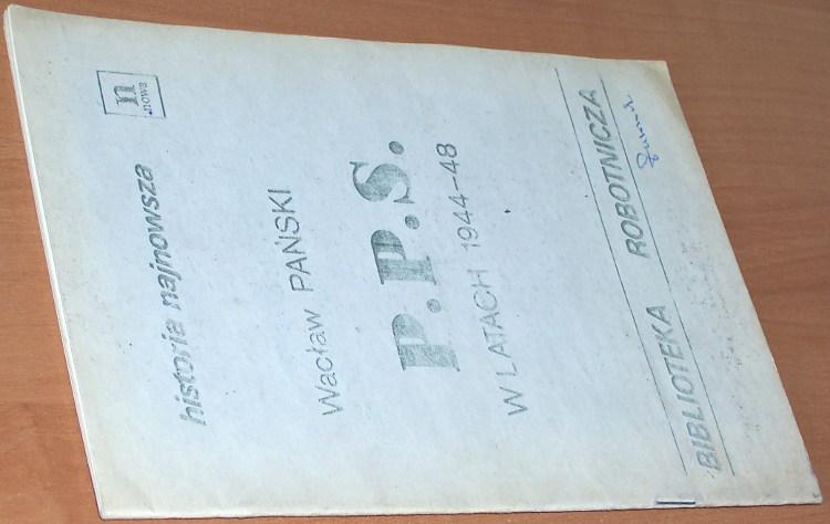 Panski-Waclaw-pseud-wlasc-Jerzy-Holzer-PPS-w-latach-1944-48-Warszawa-Niezalezna-Oficyna-Wydawnicza-maj-1981