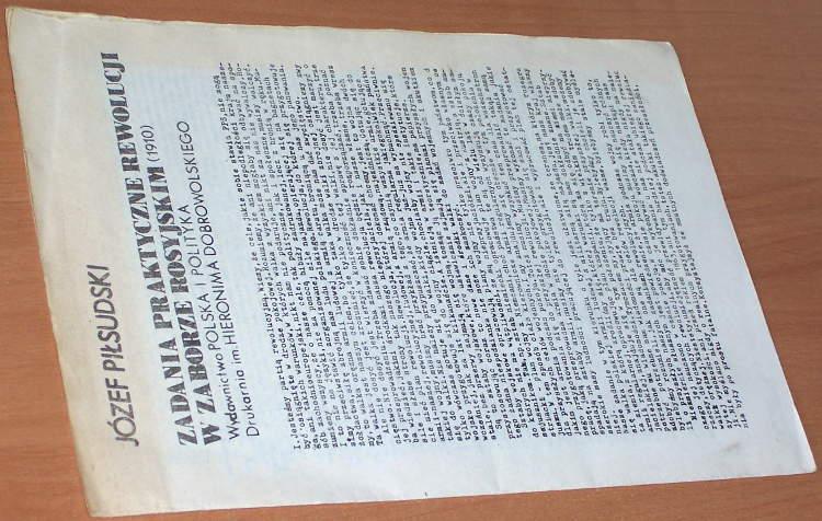 Pilsudski-Jozef-Zadania-praktyczne-rewolucji-w-zaborze-rosyjskim-Lodz-Polska-i-Polityka-1985-Chylinski-Dobrowolski