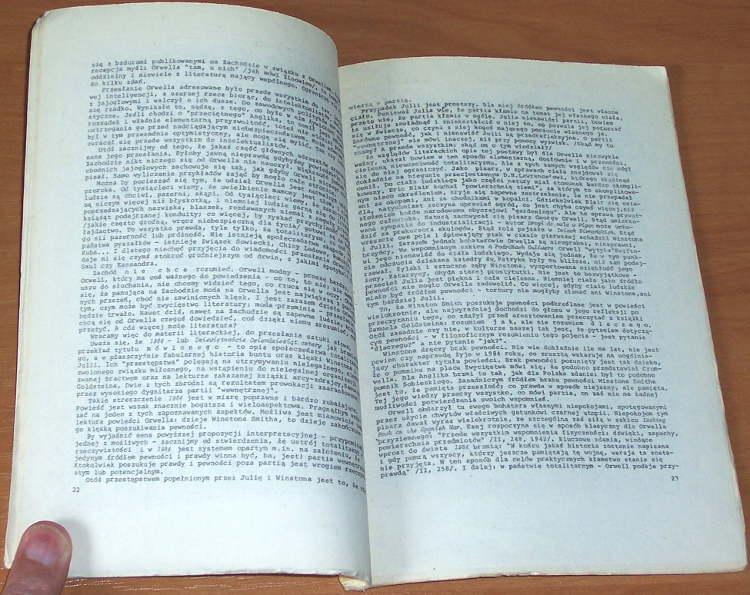 Zimand-Roman-Orwell-i-o-nim-Warszawa-Wydawnictwo-Przedswit-1985-Koestler-Burnham-Portrait-of-the-Antisemite-Sartre