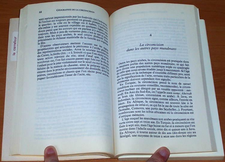 Chebel-Malek-Histoire-de-la-circoncision-Des-origines-a-nos-jours-Paris-Balland-1992-obrzezanie-circumcision