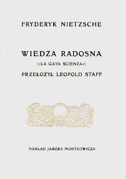 Nietzsche Wiedza radosna La gaya scienza Staff Die fröhliche Wissenschaft fröhliche frohliche froehliche Staff Filozofia wba0413