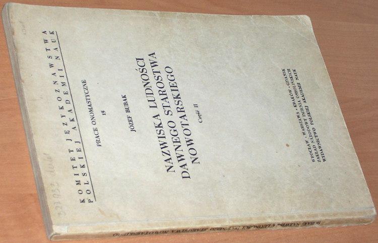 Bubak-Jozef-Nazwiska-ludnosci-dawnego-starostwa-nowotarskiego-Czesc-II-Wroclaw-Zaklad-Narodowy-im-Ossolinskich-1971