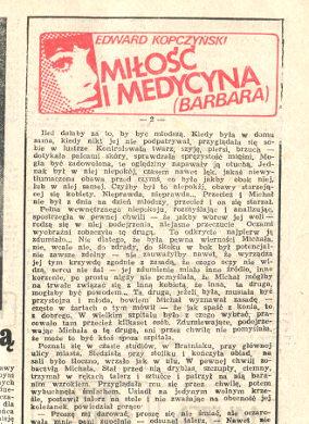 Kopczyński Kopczynski Miłość i medycyna Barbara Milosc wba0428