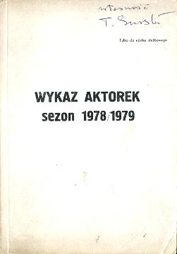Wykaz aktorek teatr film 1978 1979 Polska Poland aktor aktorka spis wba0481
