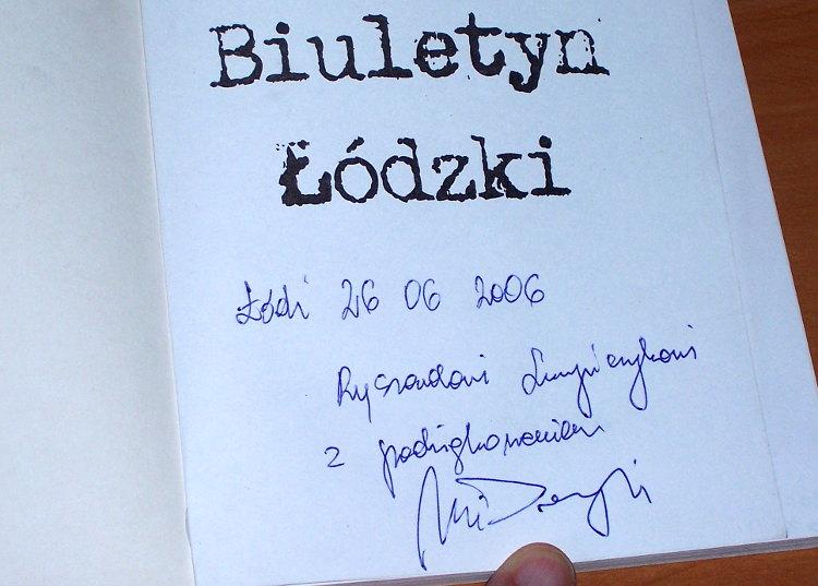 Domagalski-Wlodzimierz-Biuletyn-Lodzki-Lodz-Wydawnictwo-Inicjal-3-2006-pismo-podziemne-Maciejewski-bibula-autograf-autora