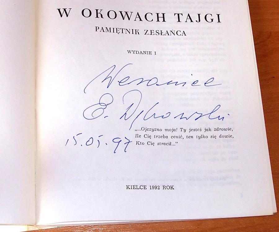 Debowski-Eugeniusz-W-okowach-tajgi-Pamietnik-zeslanca-Kielce-1992-zeslanie-Syberia-Komi-stalinizm-lagry