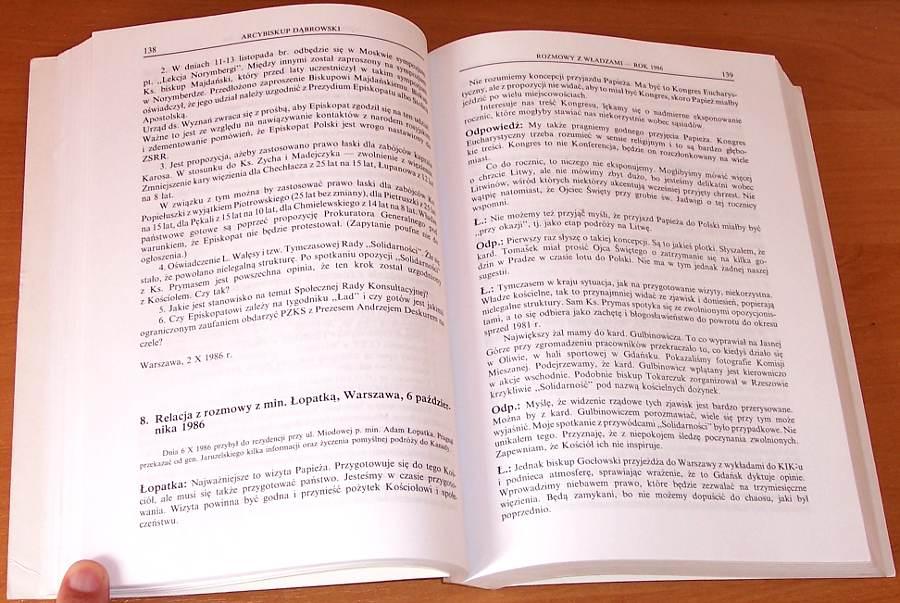Raina-Peter-Arcybiskup-Dabrowski-w-sluzbie-Kosciola-i-narodu-Rozmowy-z-wladzami-PRL-Tom-2-1982-1989-Ksiazka-Polska-1995